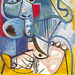 1971 Nue assise au chapeau, Pablo Picasso (1881-1973) Period of creation: 1962-1973