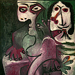 1968 Homme et femme, Pablo Picasso (1881-1973) Period of creation: 1962-1973