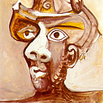 Pablo Picasso (1881-1973) Period of creation: 1962-1973 - 1971 TИte dhomme au chapeau