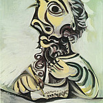 Pablo Picasso (1881-1973) Period of creation: 1962-1973 - 1971 Buste dhomme Вcrivant 1