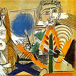 1969 Le peintre et son modКle 1, Pablo Picasso (1881-1973) Period of creation: 1962-1973