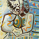 Pablo Picasso (1881-1973) Period of creation: 1962-1973 - 1971 Buste dhomme les mains croisВes
