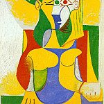 1962 Femme assise au chapeau jaune et vert, Pablo Picasso (1881-1973) Period of creation: 1962-1973