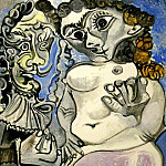 1967 Cavalier et nu assis, Pablo Picasso (1881-1973) Period of creation: 1962-1973