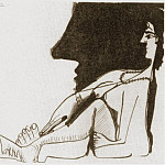 1966 Femme assise de profil, Pablo Picasso (1881-1973) Period of creation: 1962-1973