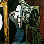Pablo Picasso (1881-1973) Period of creation: 1962-1973 - 1963 Femme au miroir