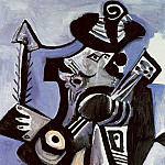 Pablo Picasso (1881-1973) Period of creation: 1962-1973 - 1972 Musicien [Mousquetaire Е la guitare]