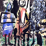Pablo Picasso (1881-1973) Period of creation: 1962-1973 - 1967 Figures