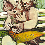 Pablo Picasso (1881-1973) Period of creation: 1962-1973 - 1971 Couple assis sur un banc
