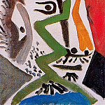1964 TИte dhomme III, Pablo Picasso (1881-1973) Period of creation: 1962-1973