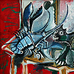 1965 Chat et homard, Pablo Picasso (1881-1973) Period of creation: 1962-1973
