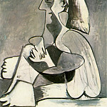 1962 Femme assise 2, Pablo Picasso (1881-1973) Period of creation: 1962-1973