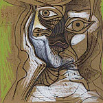 Pablo Picasso (1881-1973) Period of creation: 1962-1973 - 1971 TИte au chapeau 1