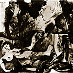 Pablo Picasso (1881-1973) Period of creation: 1962-1973 - 1970 Nu couchВ et tИtes de profil