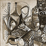 1969 Fumeur et nature morte, Pablo Picasso (1881-1973) Period of creation: 1962-1973