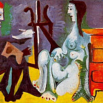 1963 Le peintre et son modКle 2, Pablo Picasso (1881-1973) Period of creation: 1962-1973