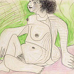 1966 Femme nue assise, Pablo Picasso (1881-1973) Period of creation: 1962-1973
