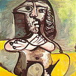 Pablo Picasso (1881-1973) Period of creation: 1962-1973 - 1971 Homme nu assis