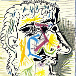 Pablo Picasso (1881-1973) Period of creation: 1962-1973 - 1964 TИte dhomme barbu II