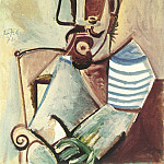 Pablo Picasso (1881-1973) Period of creation: 1962-1973 - 1971 Buste dhomme assis