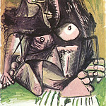 Pablo Picasso (1881-1973) Period of creation: 1962-1973 - 1971 Nue assise 2
