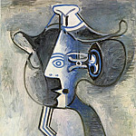 1962 Femme au chapeau 1, Pablo Picasso (1881-1973) Period of creation: 1962-1973