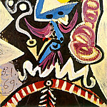 1969 TИte dhomme Е la pipe, Pablo Picasso (1881-1973) Period of creation: 1962-1973