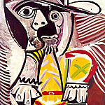 1969 Homme assis 2, Pablo Picasso (1881-1973) Period of creation: 1962-1973