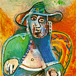 Pablo Picasso (1881-1973) Period of creation: 1962-1973 - 1970 Vieil homme assis