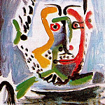 Pablo Picasso (1881-1973) Period of creation: 1962-1973 - 1964 TИte dhomme 7