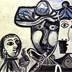 1969 Homme, femme et enfant, Pablo Picasso (1881-1973) Period of creation: 1962-1973