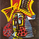 1971 TИte dhomme, Pablo Picasso (1881-1973) Period of creation: 1962-1973