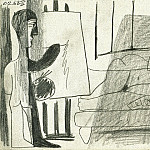 Pablo Picasso (1881-1973) Period of creation: 1962-1973 - 1963 Latelier- le peintre et son modКle IV