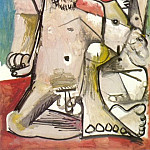 Pablo Picasso (1881-1973) Period of creation: 1962-1973 - 1971 Homme et femme nus