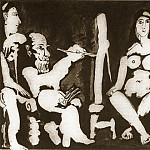 Pablo Picasso (1881-1973) Period of creation: 1962-1973 - 1963 Le peintre et son modКle 9