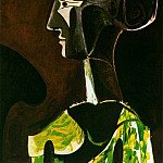 Pablo Picasso (1881-1973) Period of creation: 1962-1973 - 1963 Grand profil (Jacqueline)