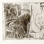 Pablo Picasso (1881-1973) Period of creation: 1962-1973 - 1964 Peintre et modКle