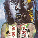 Pablo Picasso (1881-1973) Period of creation: 1962-1973 - 1971 Lhomme au gilet