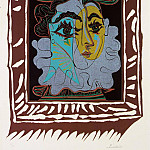 Pablo Picasso (1881-1973) Period of creation: 1962-1973 - 1963 Femme au chapeau