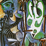 Pablo Picasso (1881-1973) Period of creation: 1962-1973 - 1963 Le peintre et son modКle 5