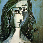 1962 TИte de femme 4, Pablo Picasso (1881-1973) Period of creation: 1962-1973
