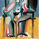 Pablo Picasso (1881-1973) Period of creation: 1962-1973 - 1963 Nu assis dans un fauteuil I