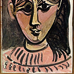 1962 TИte de femme 3, Pablo Picasso (1881-1973) Period of creation: 1962-1973