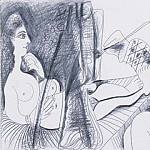 Pablo Picasso (1881-1973) Period of creation: 1962-1973 - 1970 Le peintre et son modКle 8