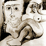 Pablo Picasso (1881-1973) Period of creation: 1962-1973 - 1970 Nu couchВ et tИte dhomme