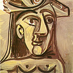 Pablo Picasso (1881-1973) Period of creation: 1962-1973 - 1971 Buste de femme au chapeau