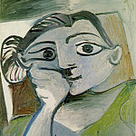 Pablo Picasso (1881-1973) Period of creation: 1962-1973 - 1962 Buste de femme (Jacqueline)