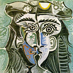 1962 TИte de femme au chapeau I, Pablo Picasso (1881-1973) Period of creation: 1962-1973