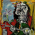 1969 Portrait de lhomme Е lВpВe et Е la fleur, Pablo Picasso (1881-1973) Period of creation: 1962-1973