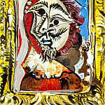 1969 Buste dhomme encadrВ, Pablo Picasso (1881-1973) Period of creation: 1962-1973